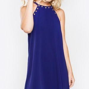 Sugar Lips A Line Halter Dress with Studs  Sz M